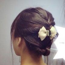 昨日のヘアスタイル♡