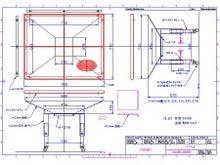 粉粒体を集めるホッパー(じょうご)の設計・製作