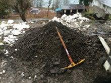 掘り出した土