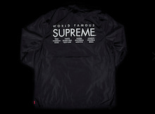 supreme international coached jacket ブラック