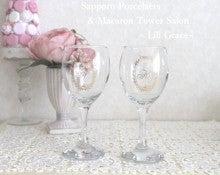 札幌 ワイングラス イニシャル グラス