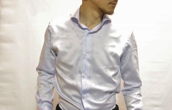 スカルドットサックスシャツ
