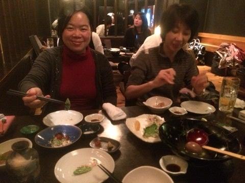 京都の居酒屋にて