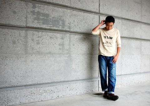 イエロー 5分Tシャツ