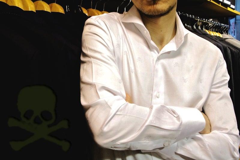 スカルドットシャツ