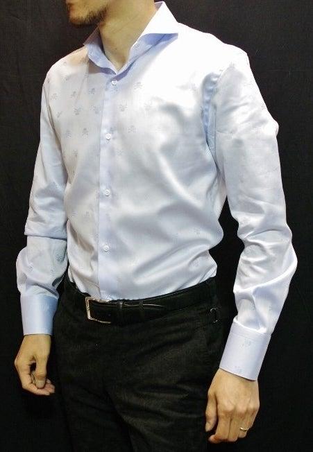 水色ドクロシャツ