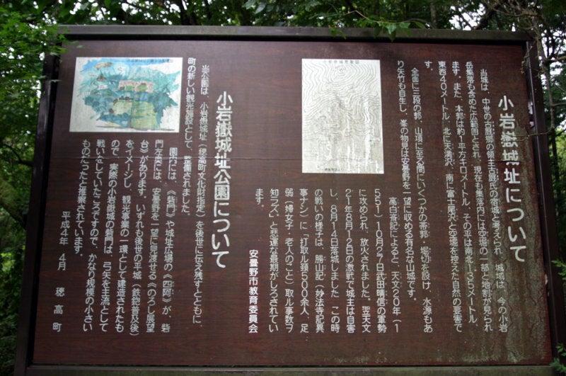 小岩嶽城②/説明板