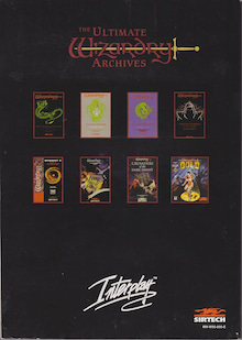 The Ultimate Wizardry Archives Manual Back