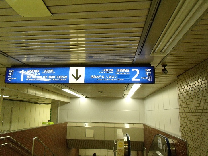 東京駅地下ホーム入口