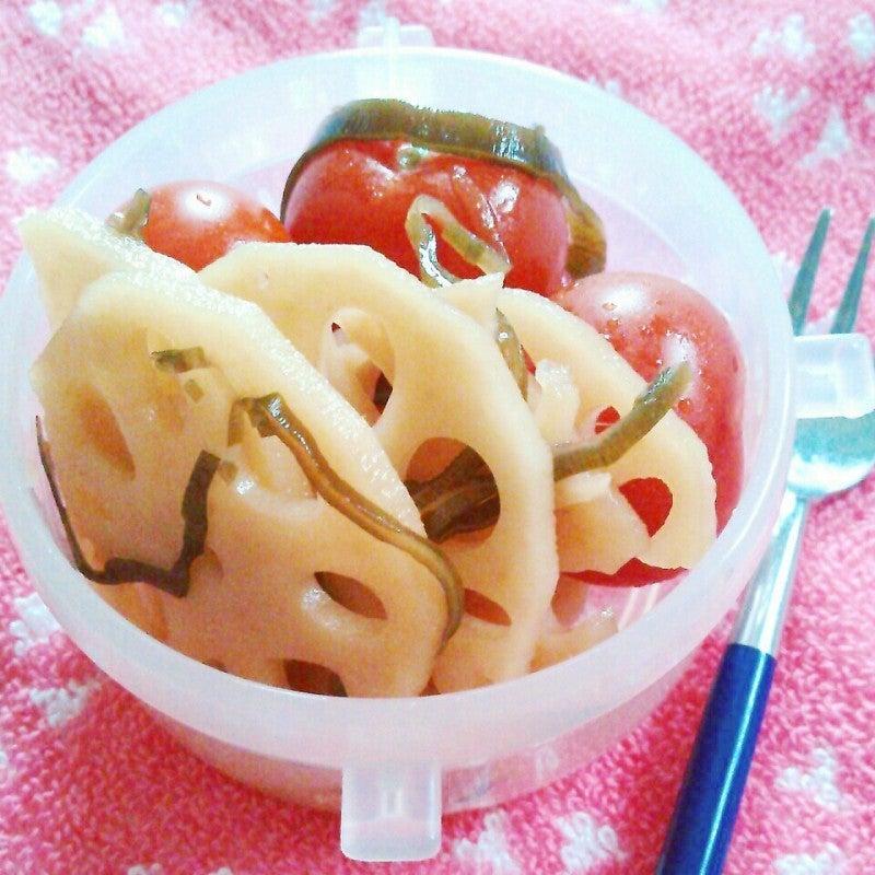 パリパリれんこんとトマトの塩昆布ピクルス