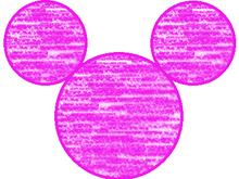 ピンクの丸