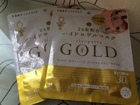 今世界で注目されている【金】美容・・・・24金配合の黄金ゲルマスク★