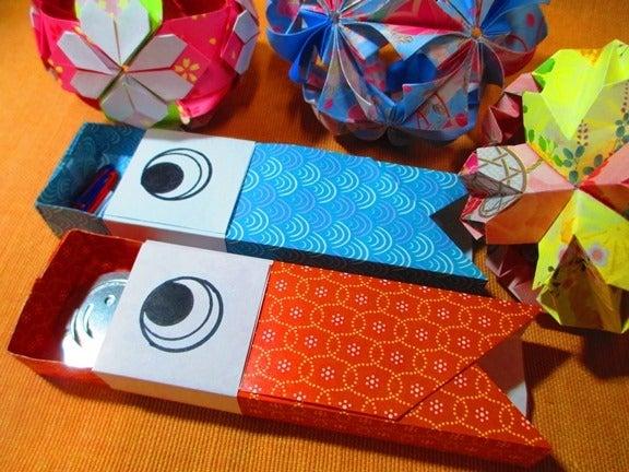 こいのぼり折り紙箱