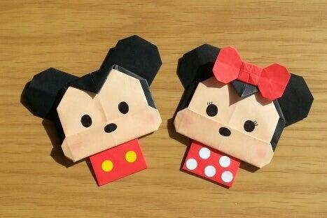 ハート 折り紙 折り紙 ミッキー 折り方 : ameblo.jp