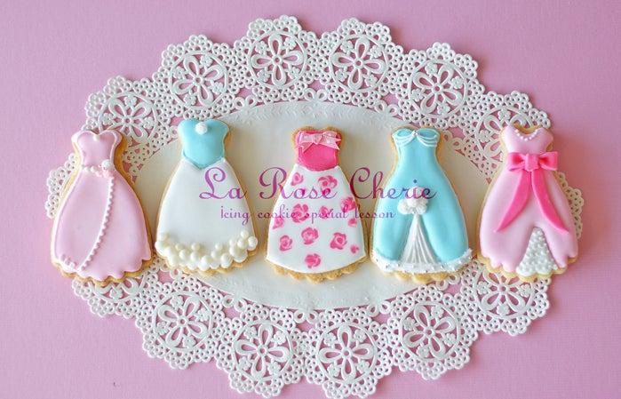 ドレス アイシングクッキー