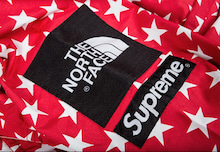 supreme north face coaches jacket red2