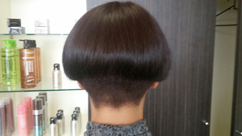 A-line With High Buzzed Nape