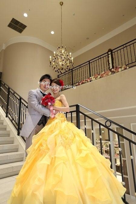 結婚式 赤いドレスの花嫁様