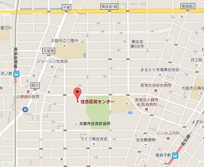 大阪住吉区民センター地図