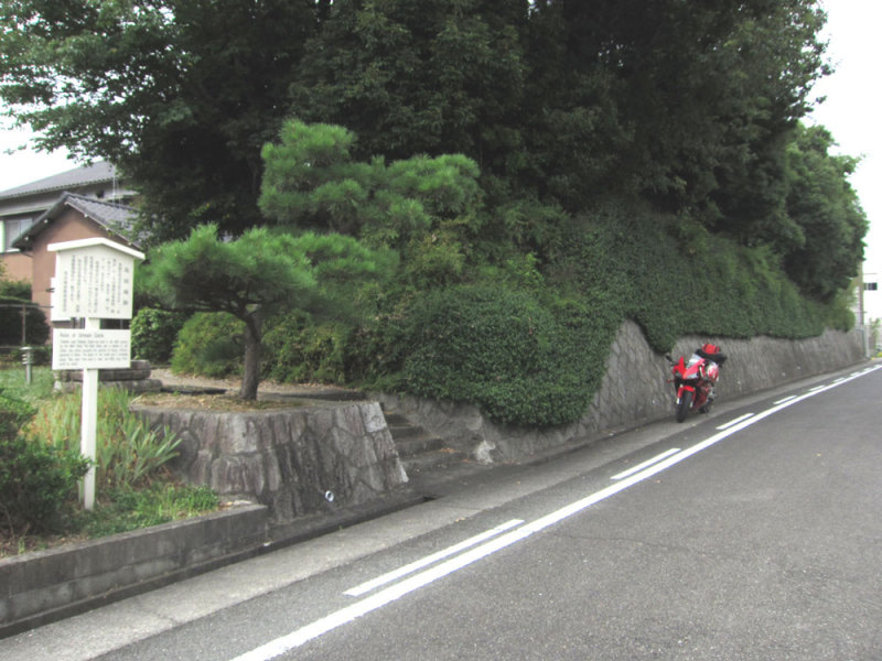 島田城/①道から見た所