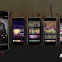 音楽配信アプリ「AW…