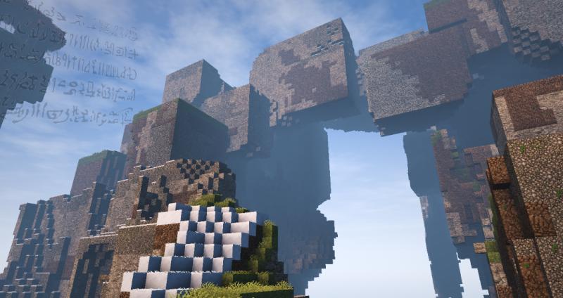 マインクラフト古代魔法でつくられた石橋