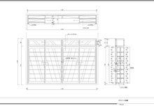 t02200152 0800055213326059080 家具データの一例:スライド式書棚