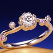 和風婚約指輪 シンプ…