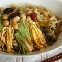豆と野菜たっぷり冷や…