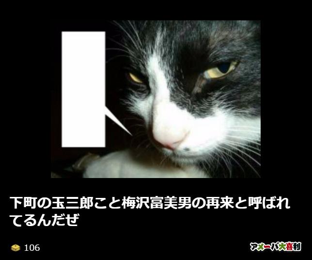 下町の玉三郎こと梅沢富美男の再来と呼ばれてるんだぜ