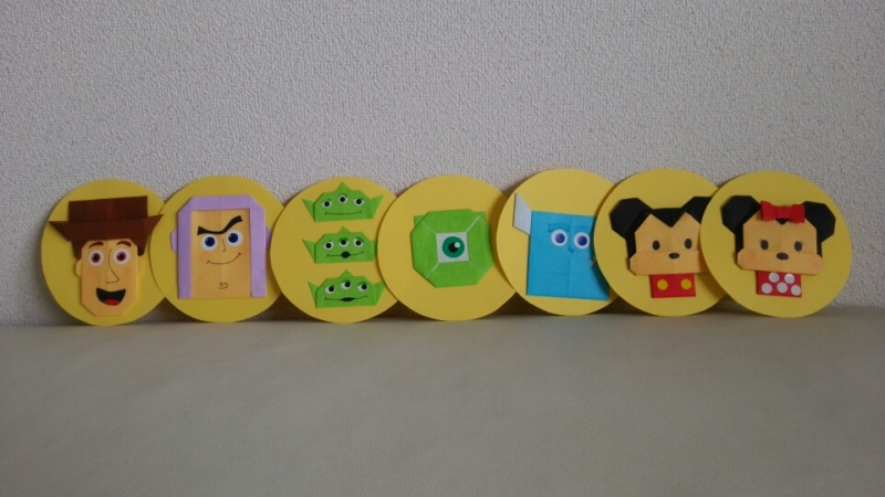 簡単 折り紙 ディズニーキャラクター折り紙 : ameblo.jp
