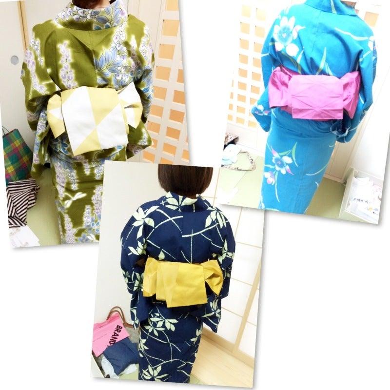 大阪浴衣の着方レッスン写真