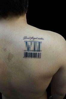 レタリング バーコード タトゥー TATTOO 刺青