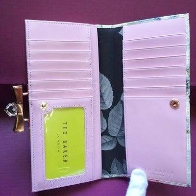 花柄長財布 カード