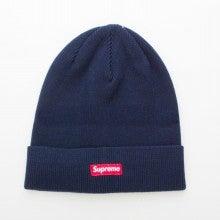 supreme ニット帽 solid beanie ネイビー