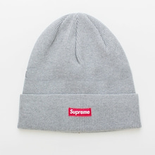 supreme ニット帽 solid beanie グレー