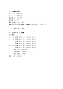 2015年6月経費報告