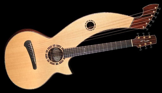 2008 Duane Noble Harp Guitar