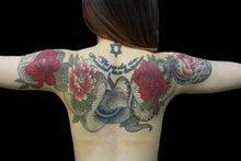 蛇 牡丹 タトゥー TATTOO 刺青