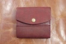 折り財布(赤×キャメル)池田町Kさん1507-4