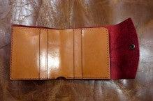 折り財布(赤×キャメル)池田町Kさん1507-5