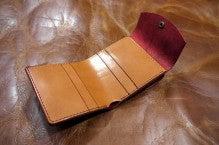 折り財布(赤×キャメル)池田町Kさん1507-7