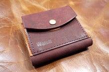 折り財布(赤×キャメル)池田町Kさん1507-1