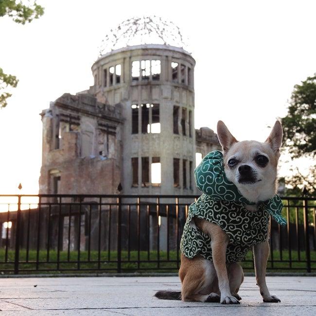 ふうこ原爆ドームをバックに