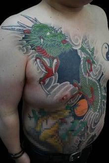 手彫り 龍 タトゥー TATTOO 刺青