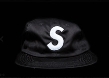supreme s logo 6panel cap