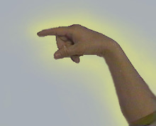 オーラ手黄色