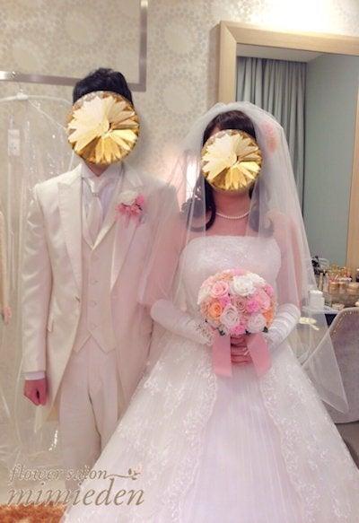 プリザーブドフラワーブーケ 花嫁様の写真
