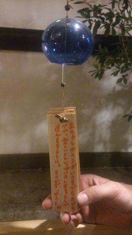 願いごとを書いて吊るした風鈴