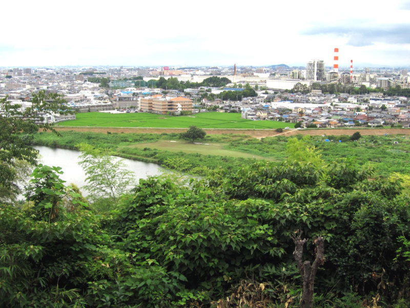 竜泉寺城/④対岸がよく見えます